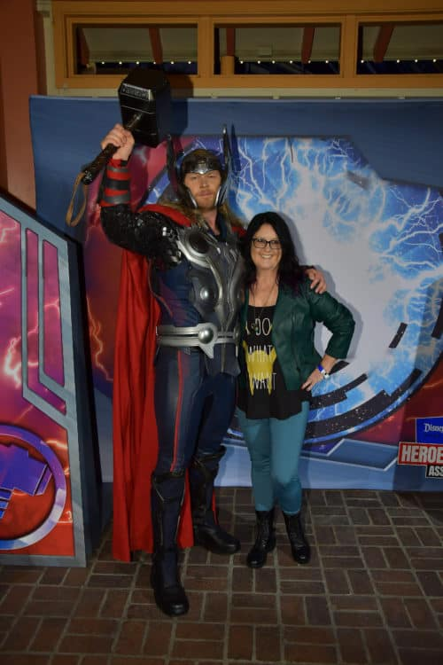 Thor photo opp at Disney California Adventure