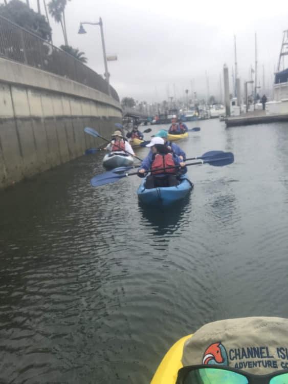 kayak in santa barbara harbor