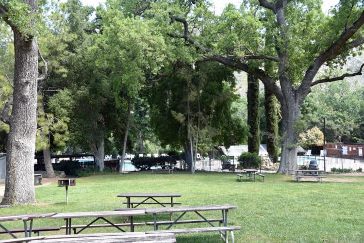 picnic area at rancho oso santa barbara rv resort
