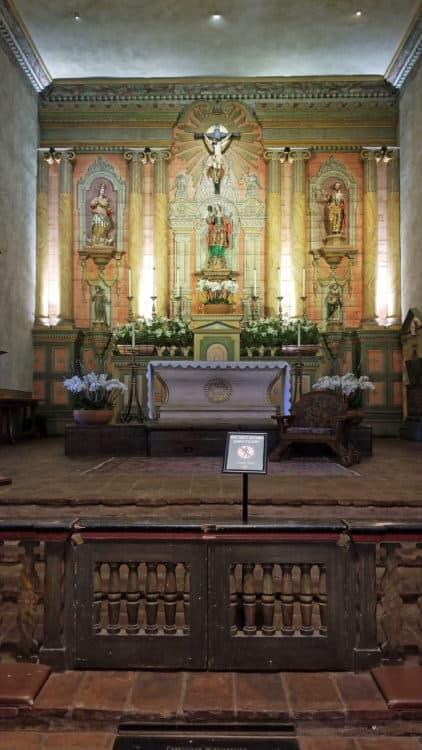 Santa Barbara Mission chapel