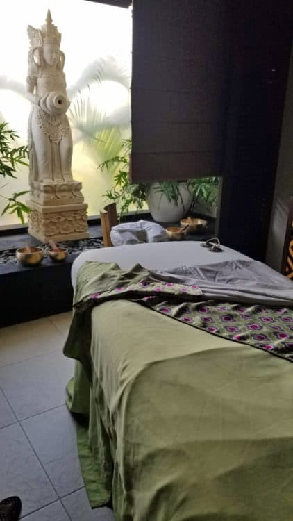 bali room at the Melange World Spa