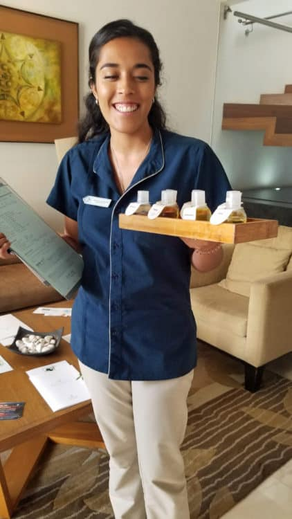 essential oils at Melange World Spa