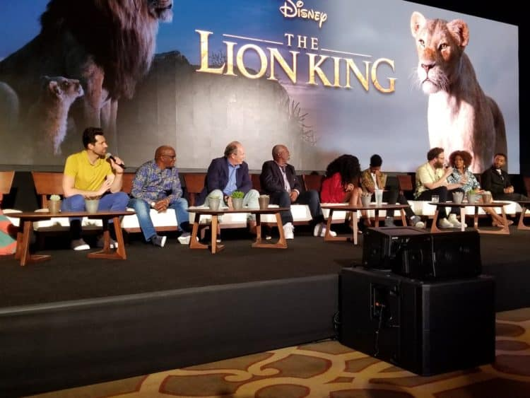 billy eichner and cast of the lion king