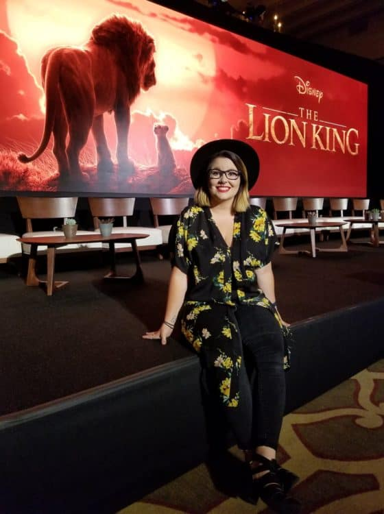 devon at interview with the cast of the lion king