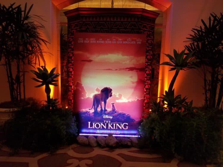lion king junket poster