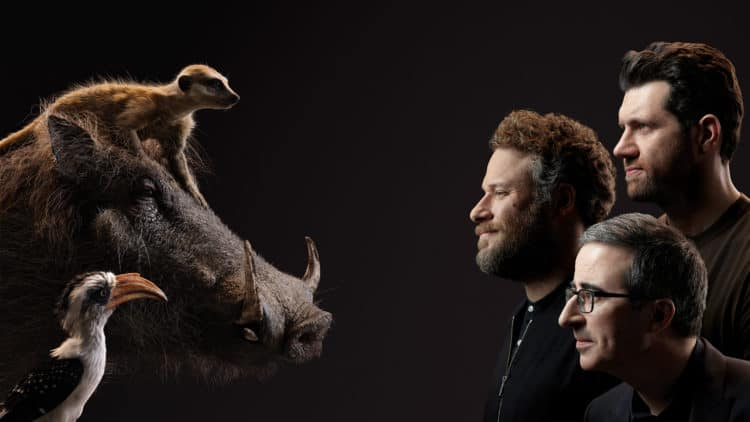 Seth Rogen and Timon