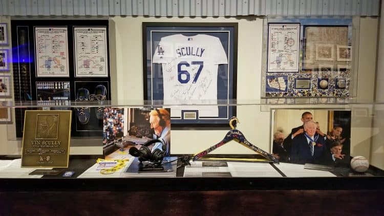 vin scully memorabilia at dodgers stadium