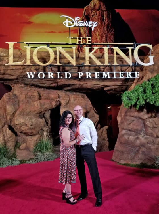 pride rock at the lion king premiere