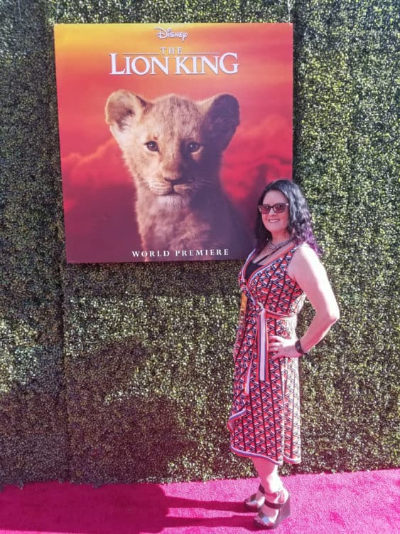 lion king red carpet