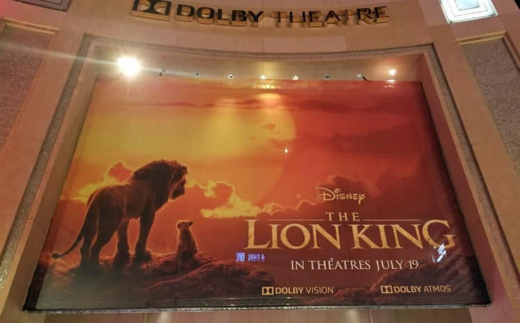 lion king premiere at dolby theater
