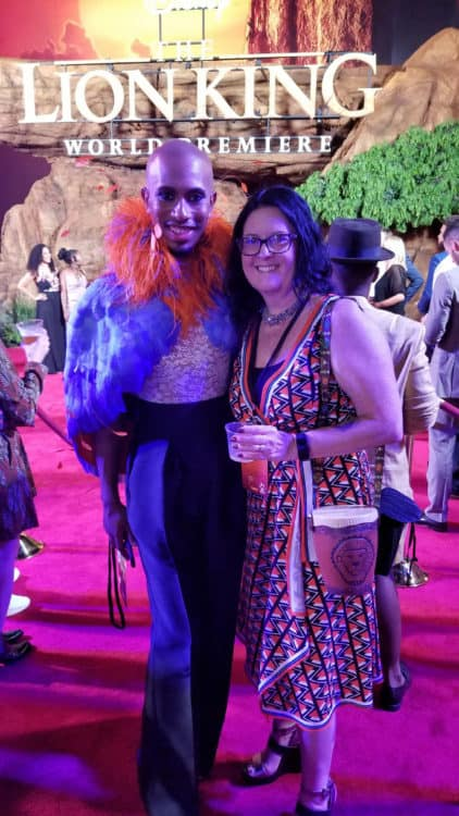 kalen allen at lion king premiere