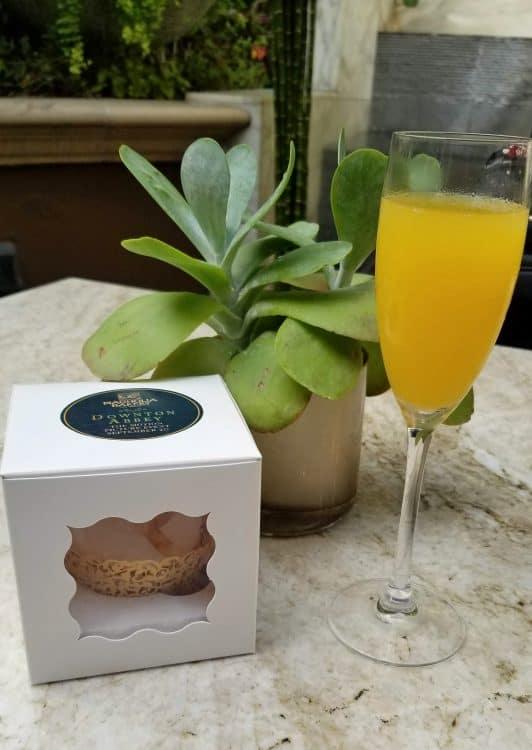 magnolia bakery cupcake and mimosa