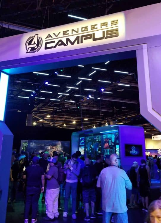 avengers campus sign at d23 expo