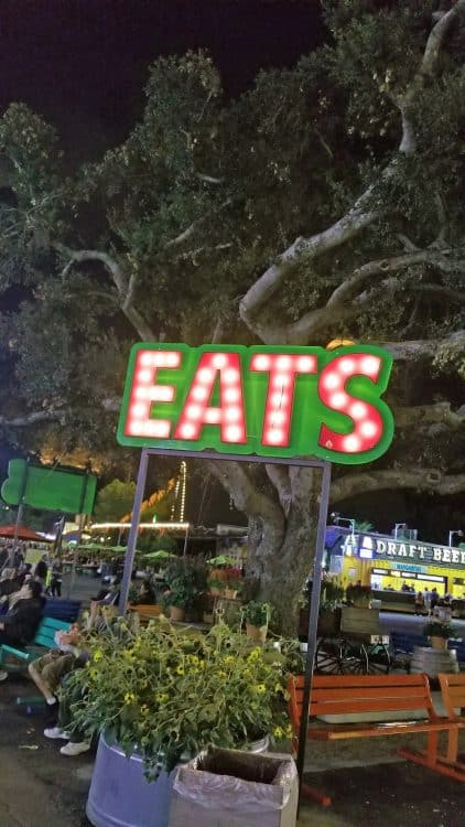 neon sign at the 2019 la county fair
