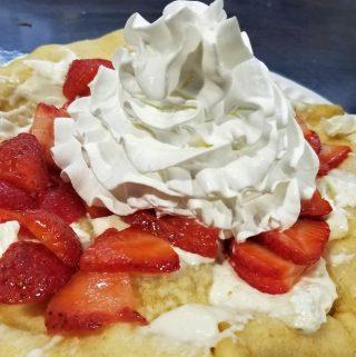 strawberry shortcake fry bread dessert