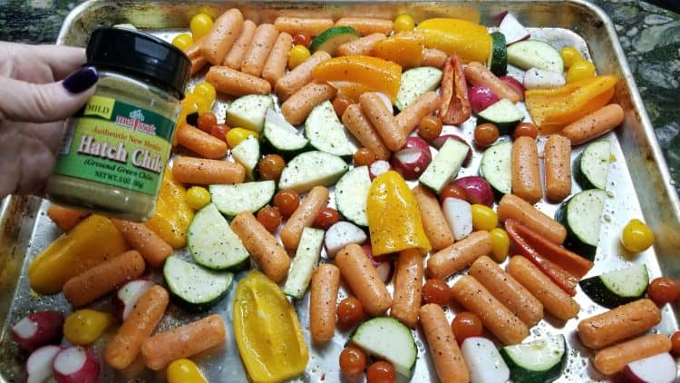 roasted vegetables with hatch chile powder