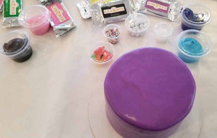 decorating cakes at Duff's Cake Mix