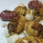 mini hasselback potatoes with brown butter