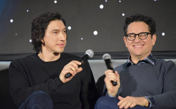 adam driver and j. j. abrams at the rise of skywalker cast interview
