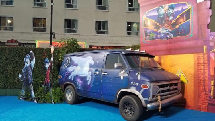 guinevere from pixar onward blue carpet