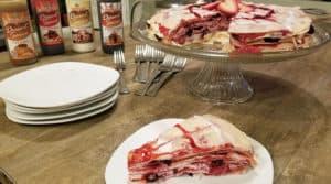 fruit crepe cake