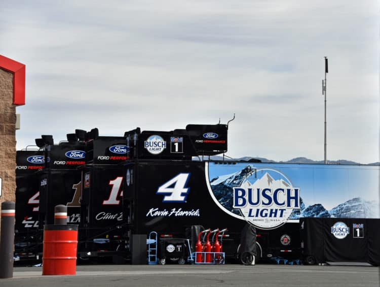 nascar haulers at auto club speedway 2020