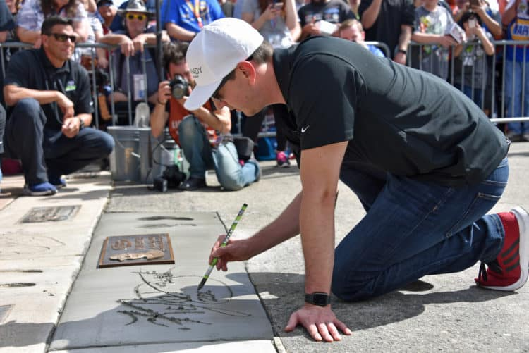 kyle busch auto club speedway walk of fame