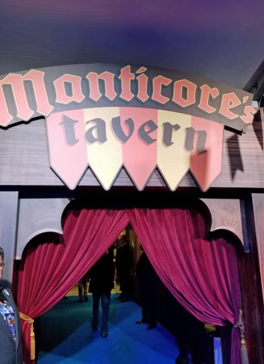 manticore's tavern entrance at the onward premiere
