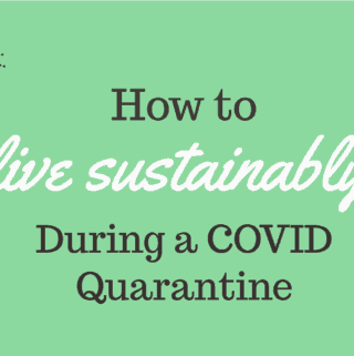 live sustainably during a COVID quarantine