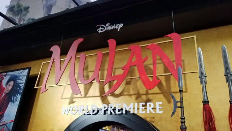 mulan premiere in hollywood