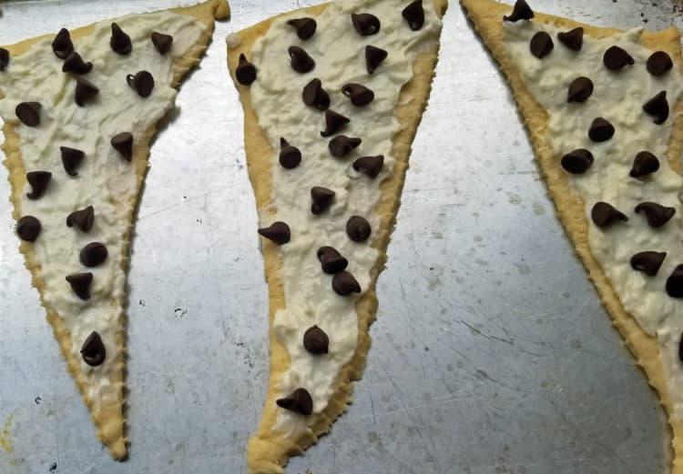 snack hack cream cheese croissants
