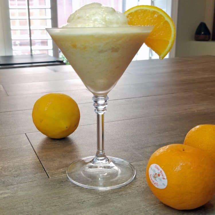 frozen citrus whip dessert