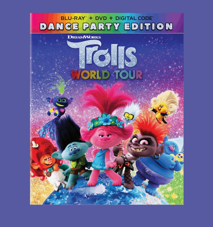 trolls world tour on blu-ray
