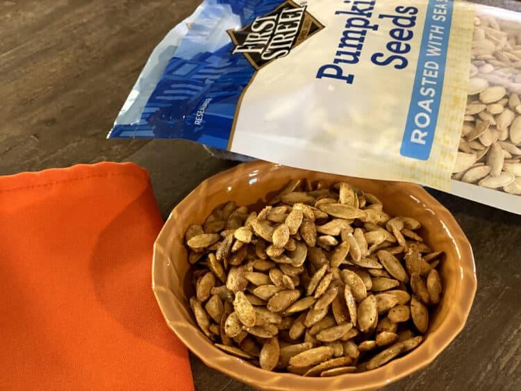 roasted pumpkin seeds sweet and savory