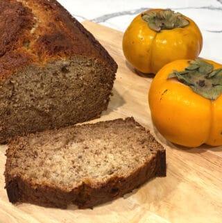 ginger bourbon persimmon bread recipe