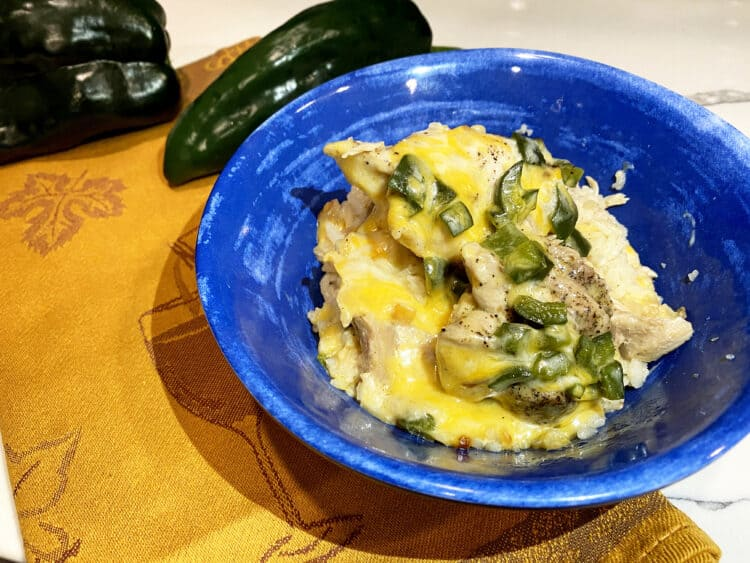 poblano pepper chicken and rice in the instant pot