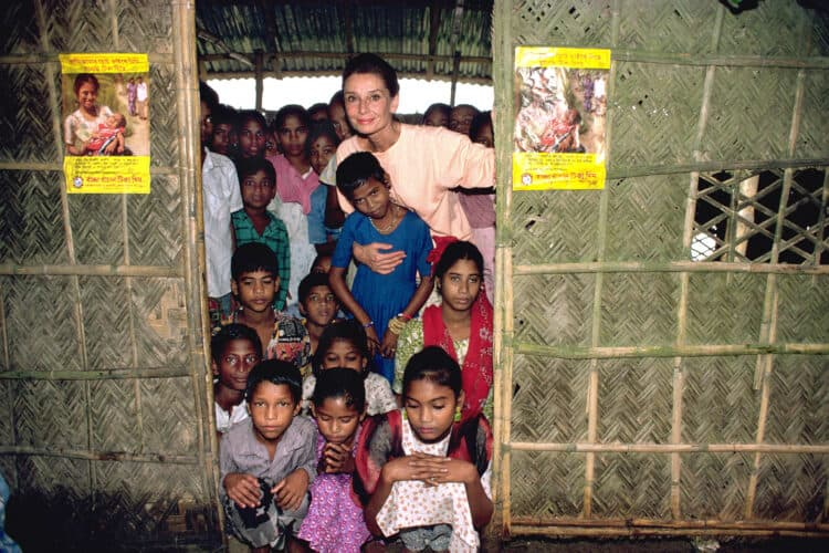 Audrey Hepburn with UNICEF