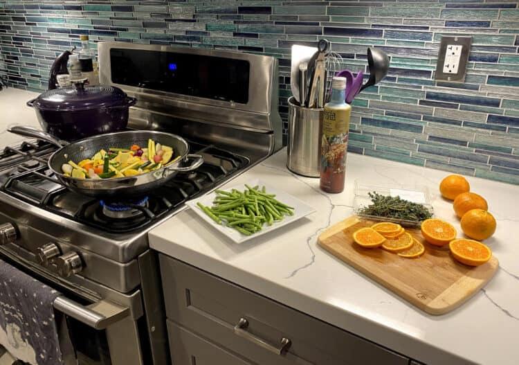 citrus veggie stir fry spread