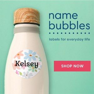 decorate a water bottle with name bubbles