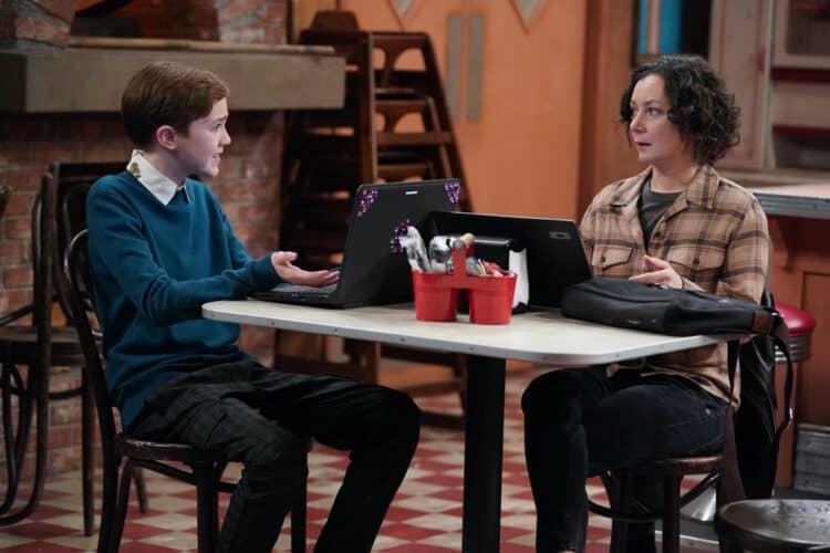 the conners cast Sara Gilbert and Ames McNamara