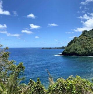 the road to Hana drive along coast