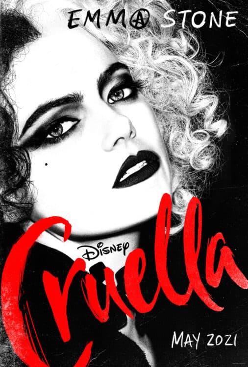 cruella costumes official movie poster