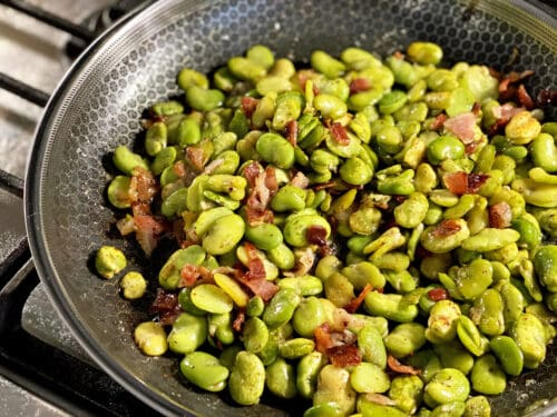 fava beans with bacon