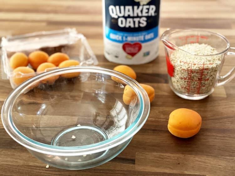 coconut apricot crumble recipe prep
