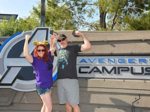 visiting avengers campus sign
