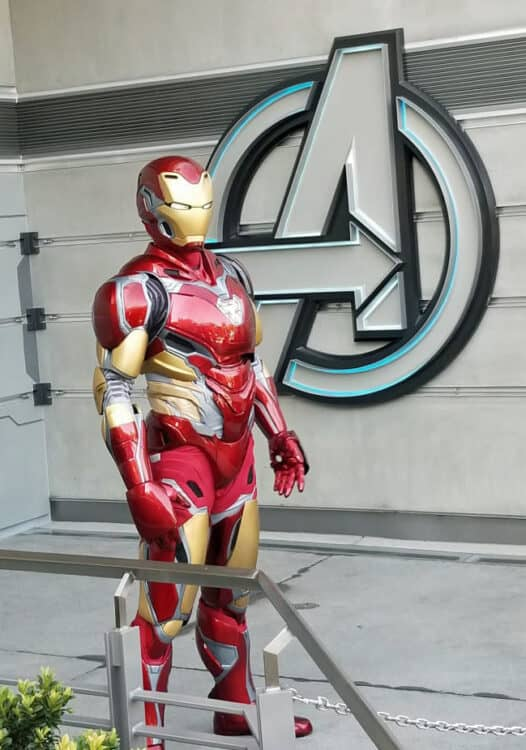 iron man at Disney California adventure