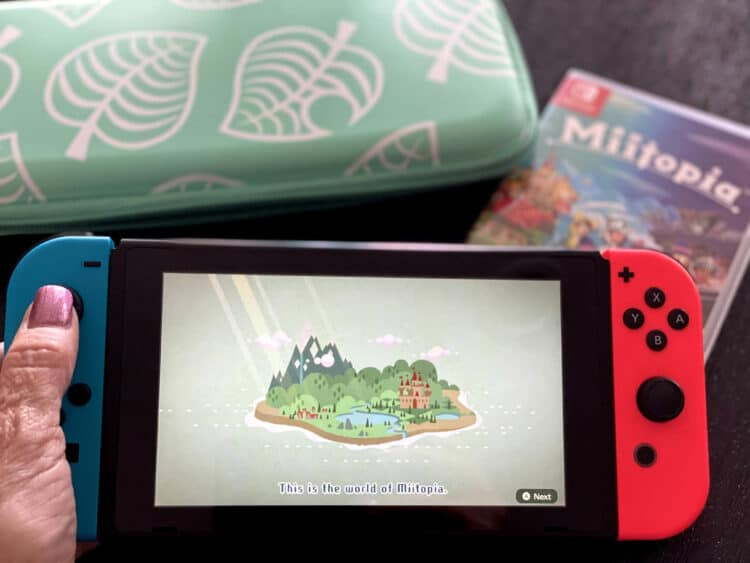 Miitopia for the Nintendo Switch and single player video game