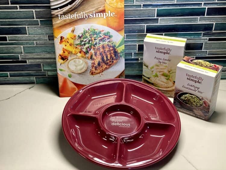 tastefully simple melamine tray