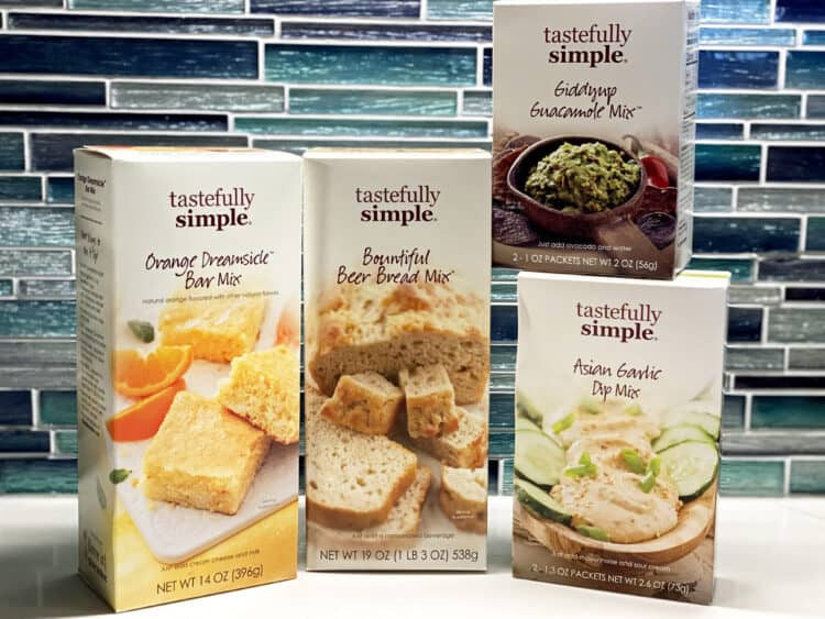tastefully simple boxed foods