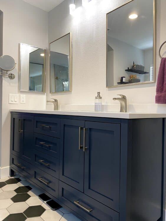 shaker style vanity